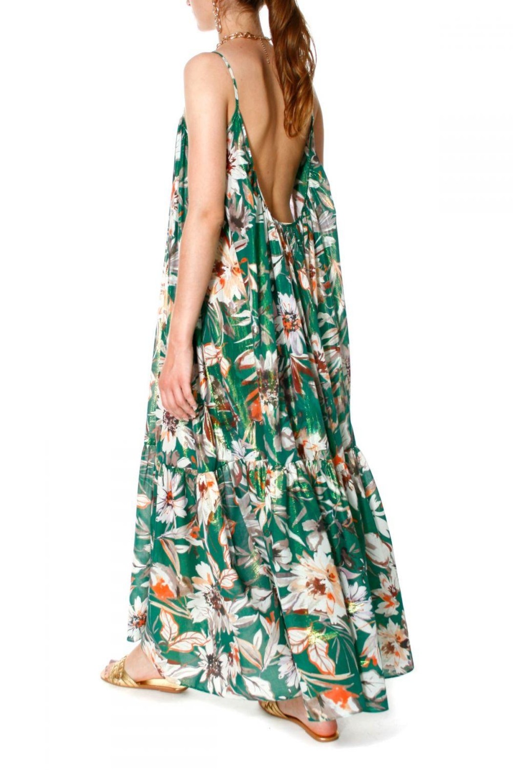 AGGI Dress Lea Summer Bouquet - Front Cropped Image