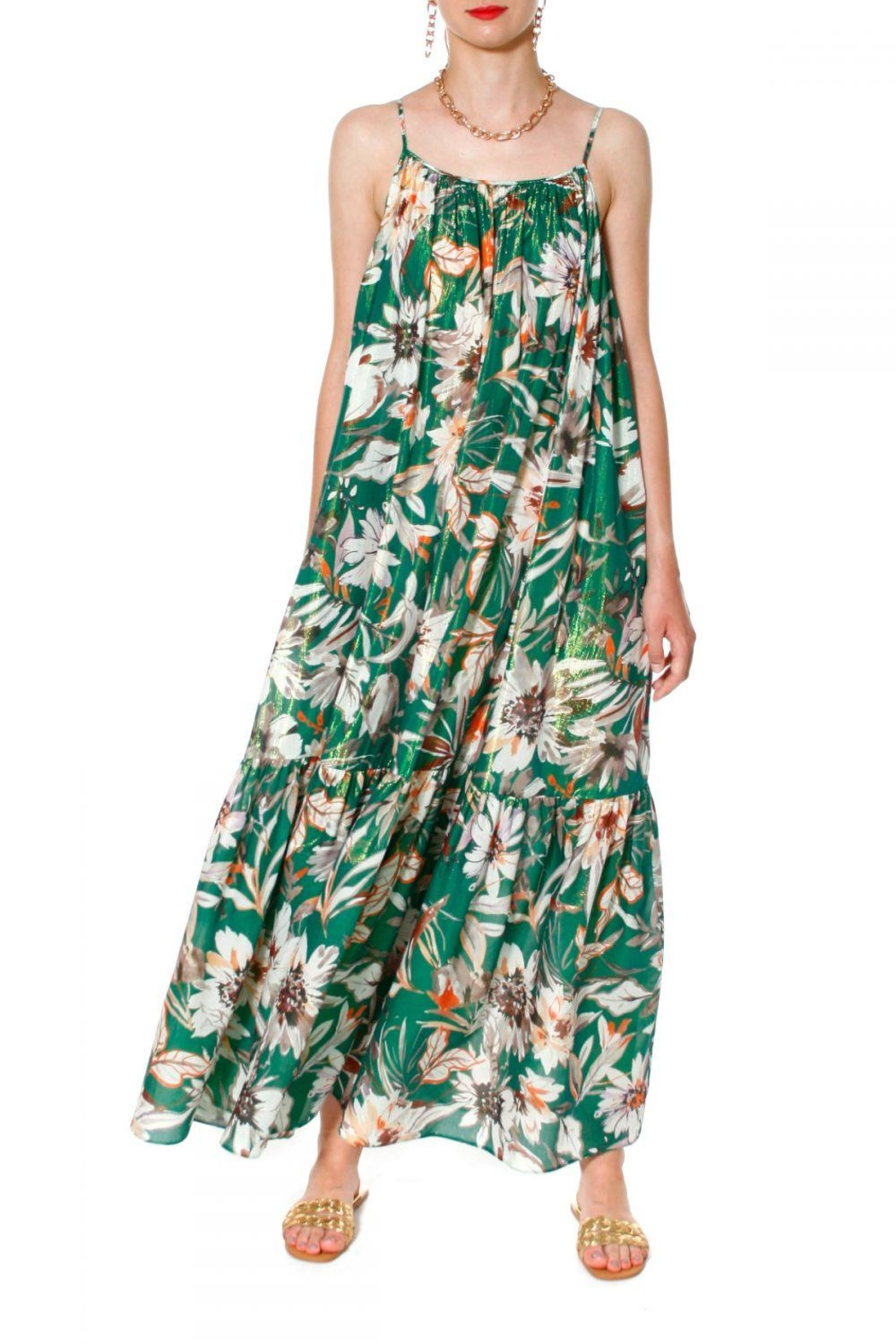 AGGI Dress Lea Summer Bouquet - Side Cropped Image