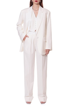 Shoptiques Product: Frankie Aesthetic White Trousers - Long