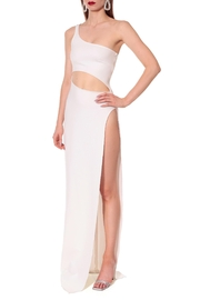 AGGI Gina All White Dress - Front cropped