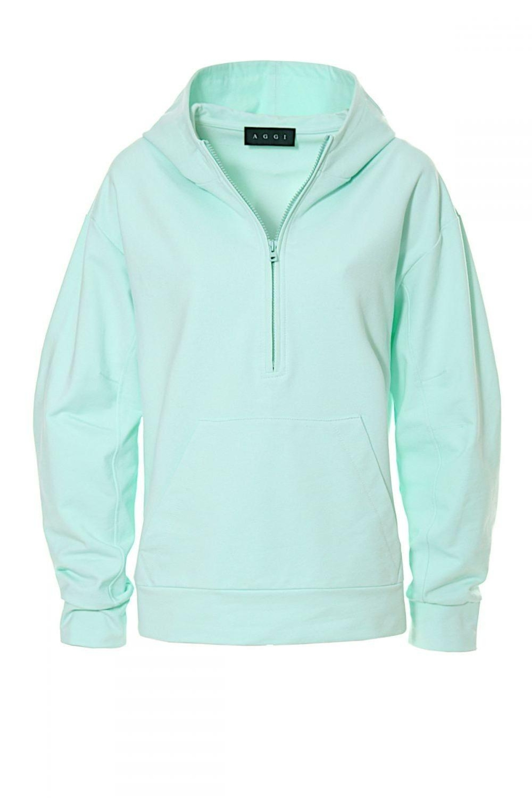 AGGI Hoodie Selena Frosty Mint - Front Full Image