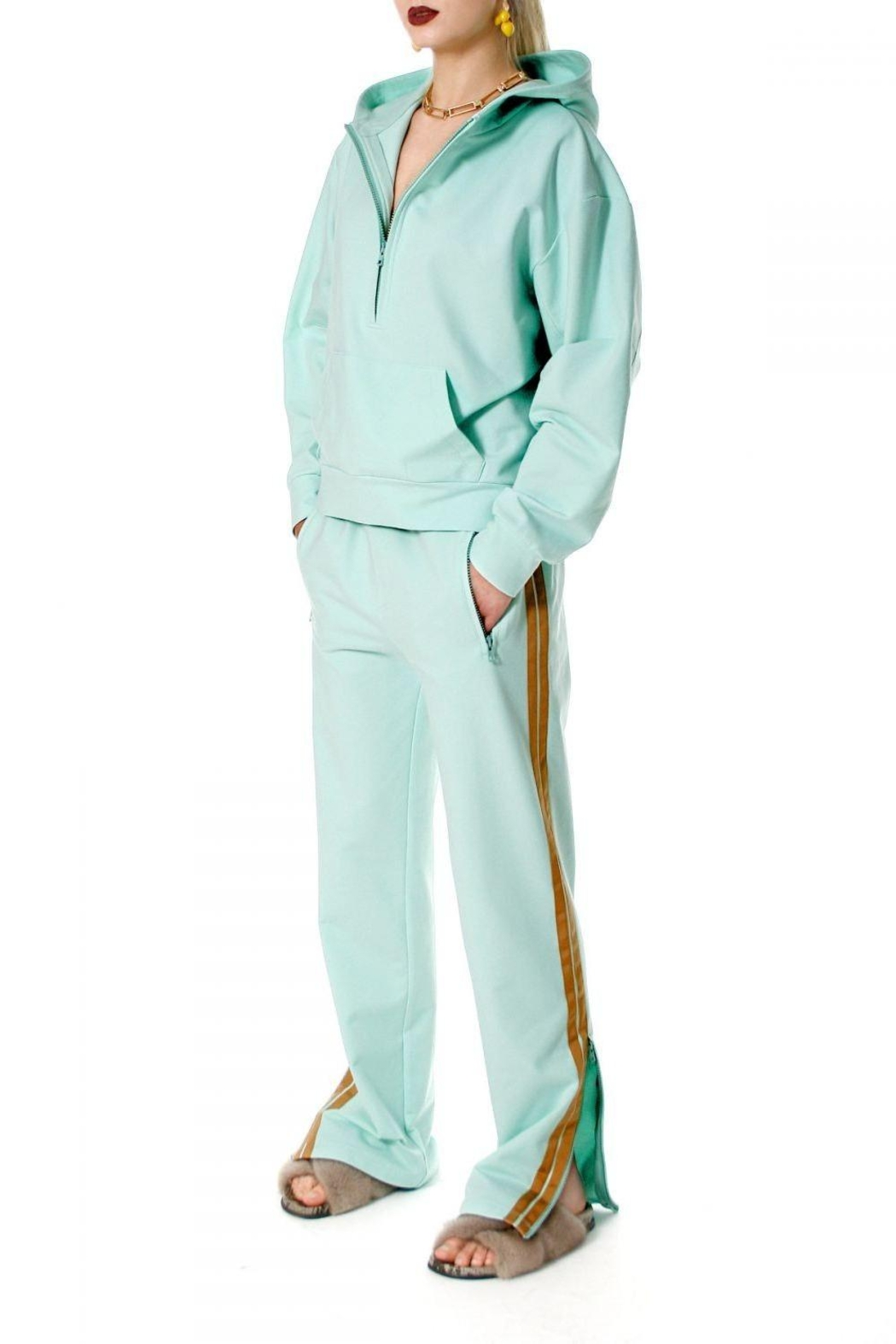 AGGI Hoodie Selena Frosty Mint - Front Cropped Image