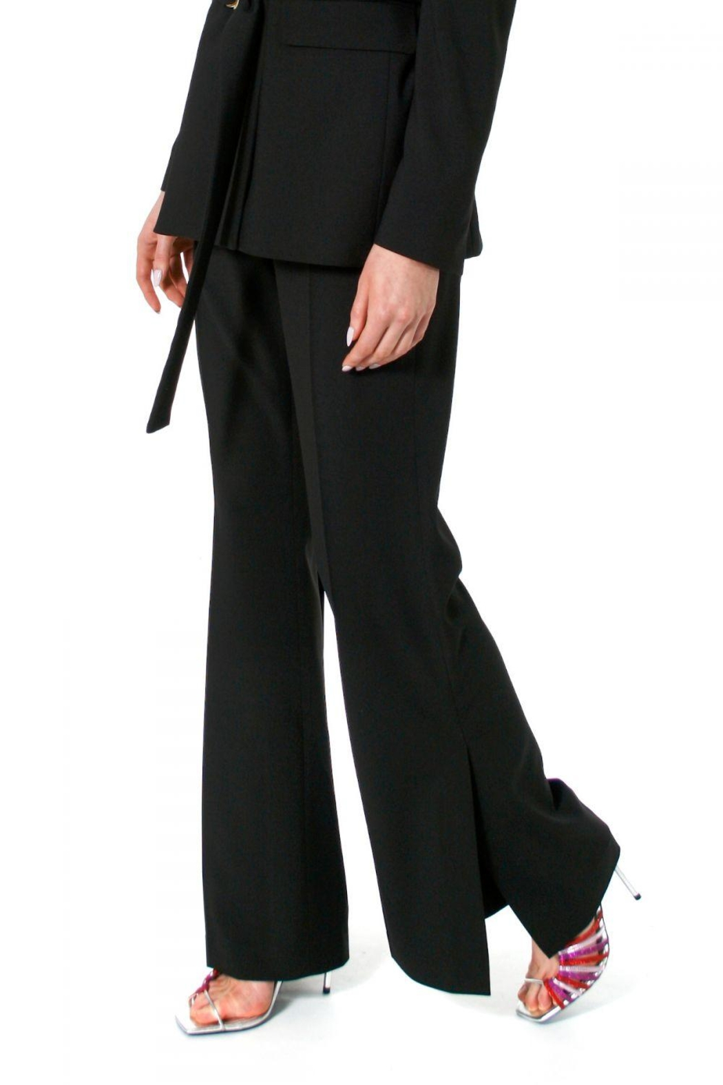 AGGI Pants Camilla Neutral Black - Side Cropped Image