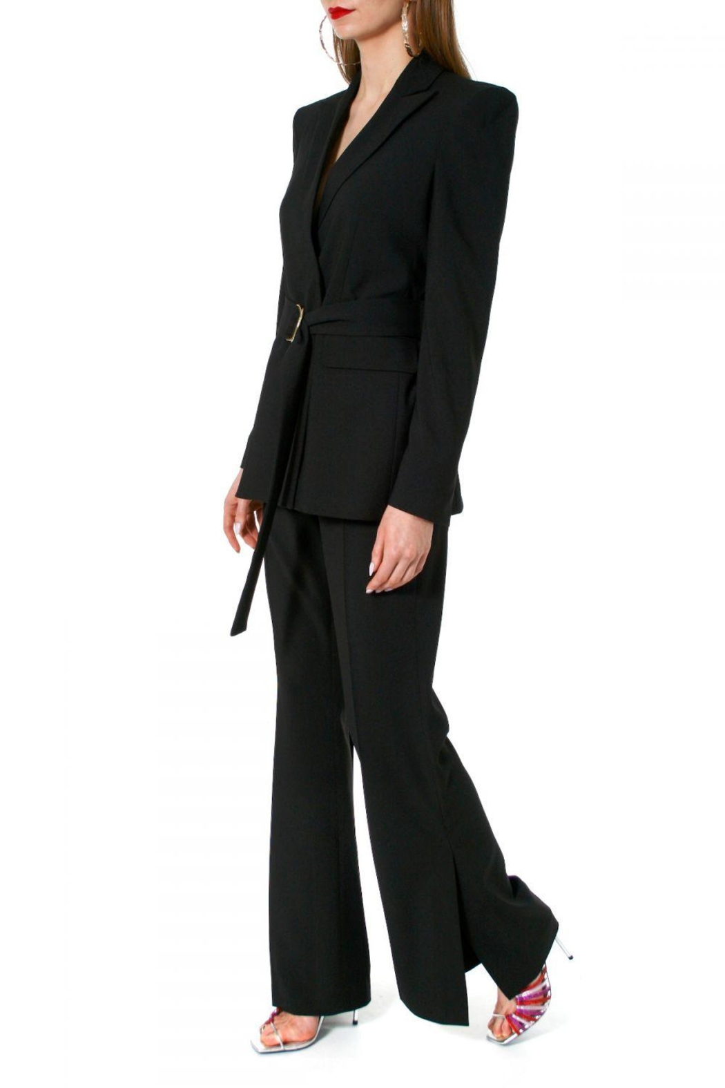 AGGI Pants Camilla Neutral Black - Front Cropped Image