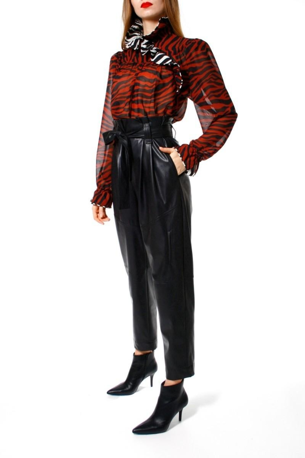 AGGI Pants Carrie Cynical Black - Front Full Image