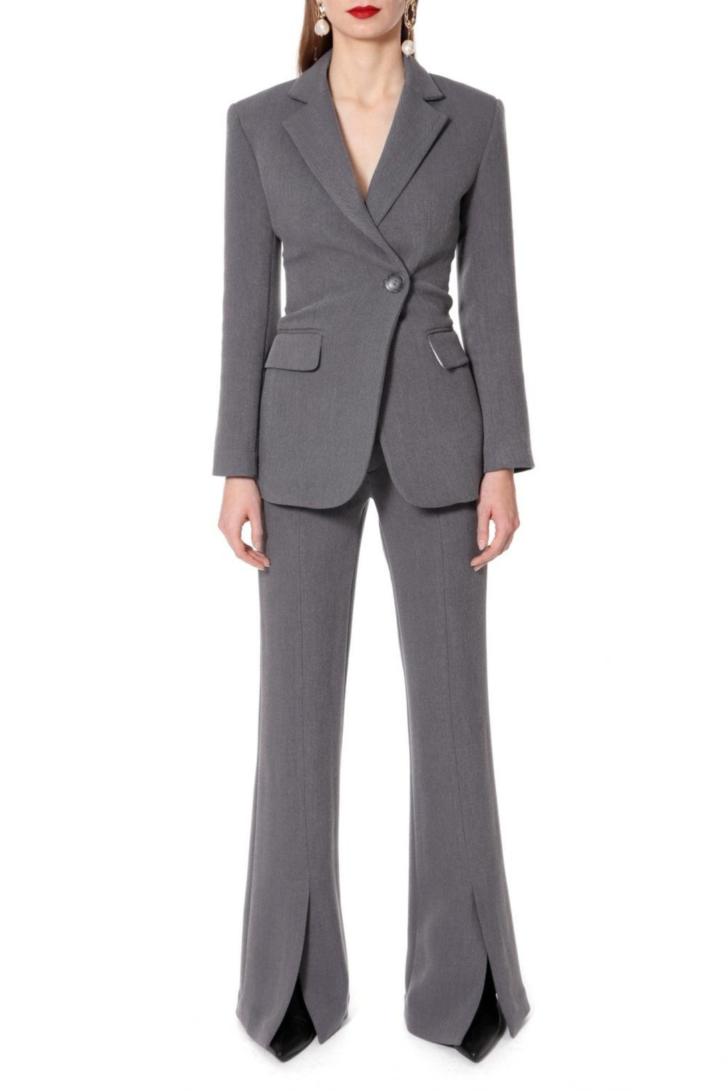 AGGI Pants Monica Baltic Grey - Height 165 - Side Cropped Image