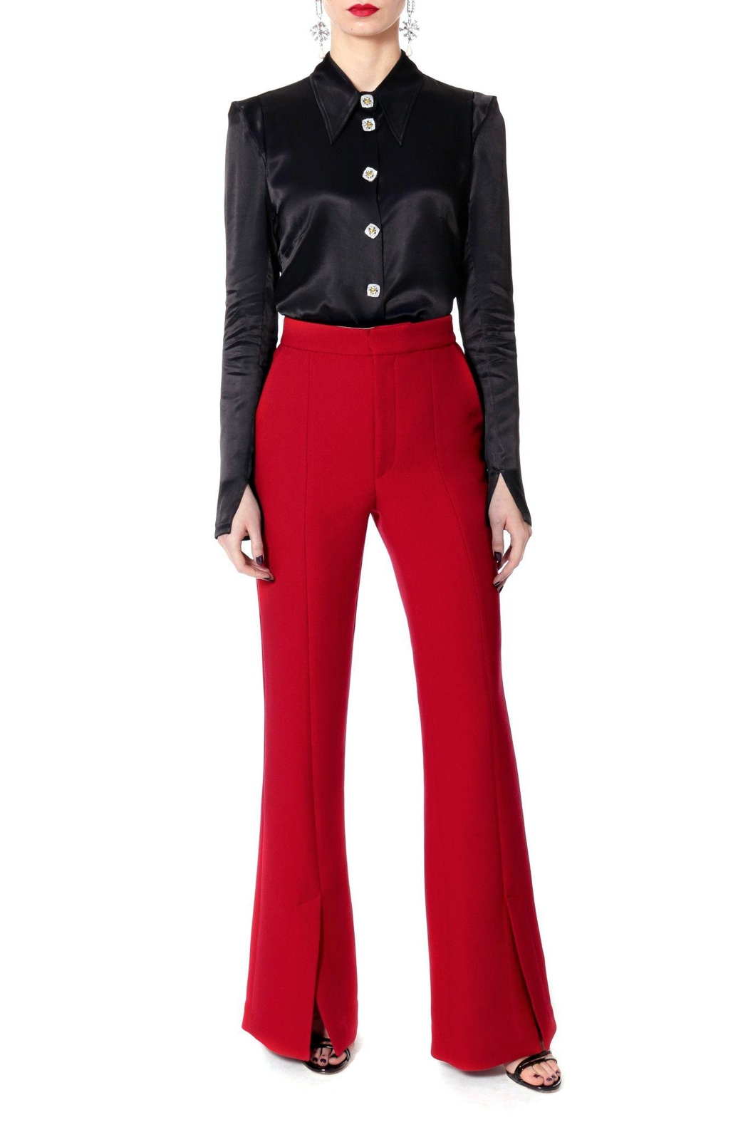 AGGI Pants Monica Lipstick Red - Height 165 - Front Cropped Image