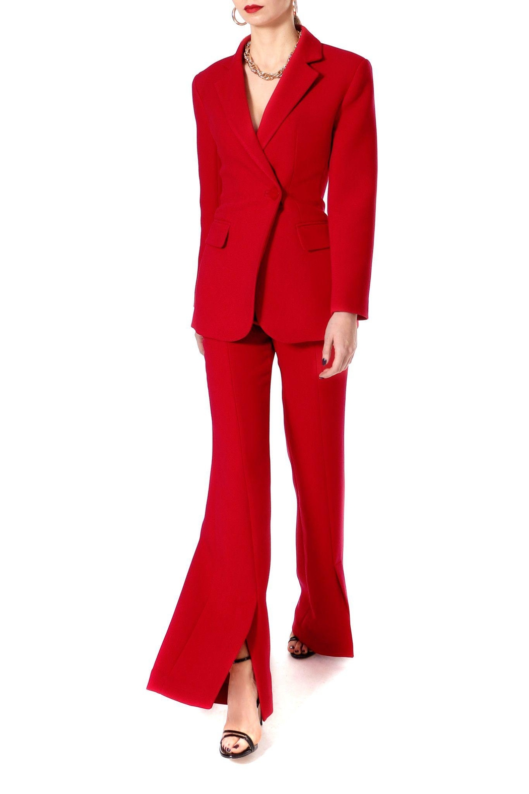 AGGI Pants Monica Lipstick Red - Height 165 - Back Cropped Image