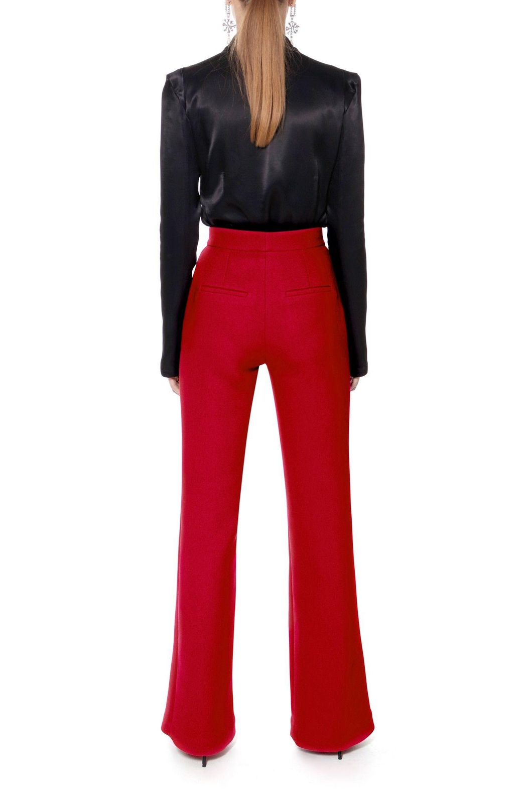 AGGI Pants Monica Lipstick Red - Height 175 - Back Cropped Image
