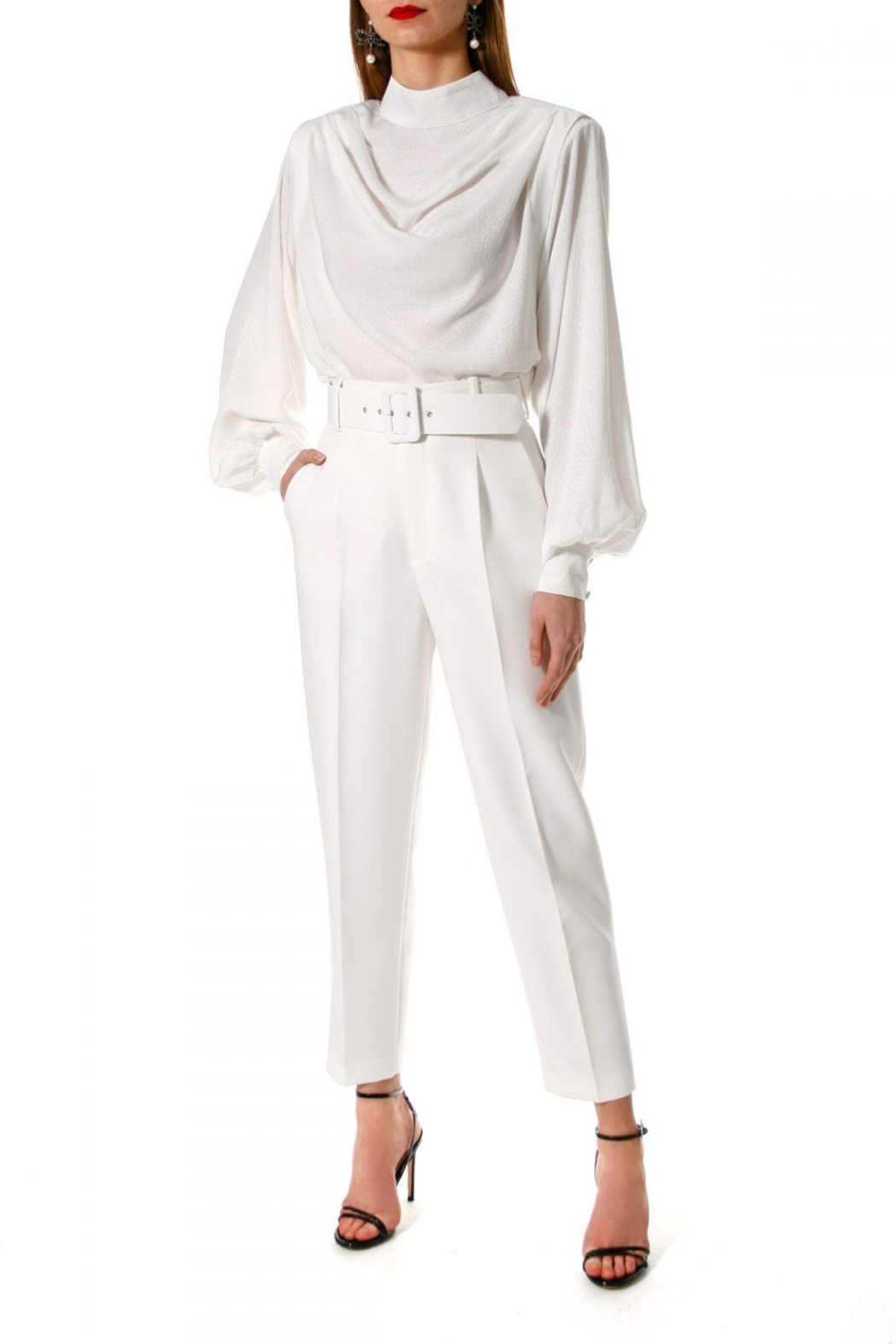 AGGI Pants Tracey Cloud Dancer - Side Cropped Image