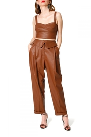 AGGI Pants Xenia Raw Umber - Front cropped