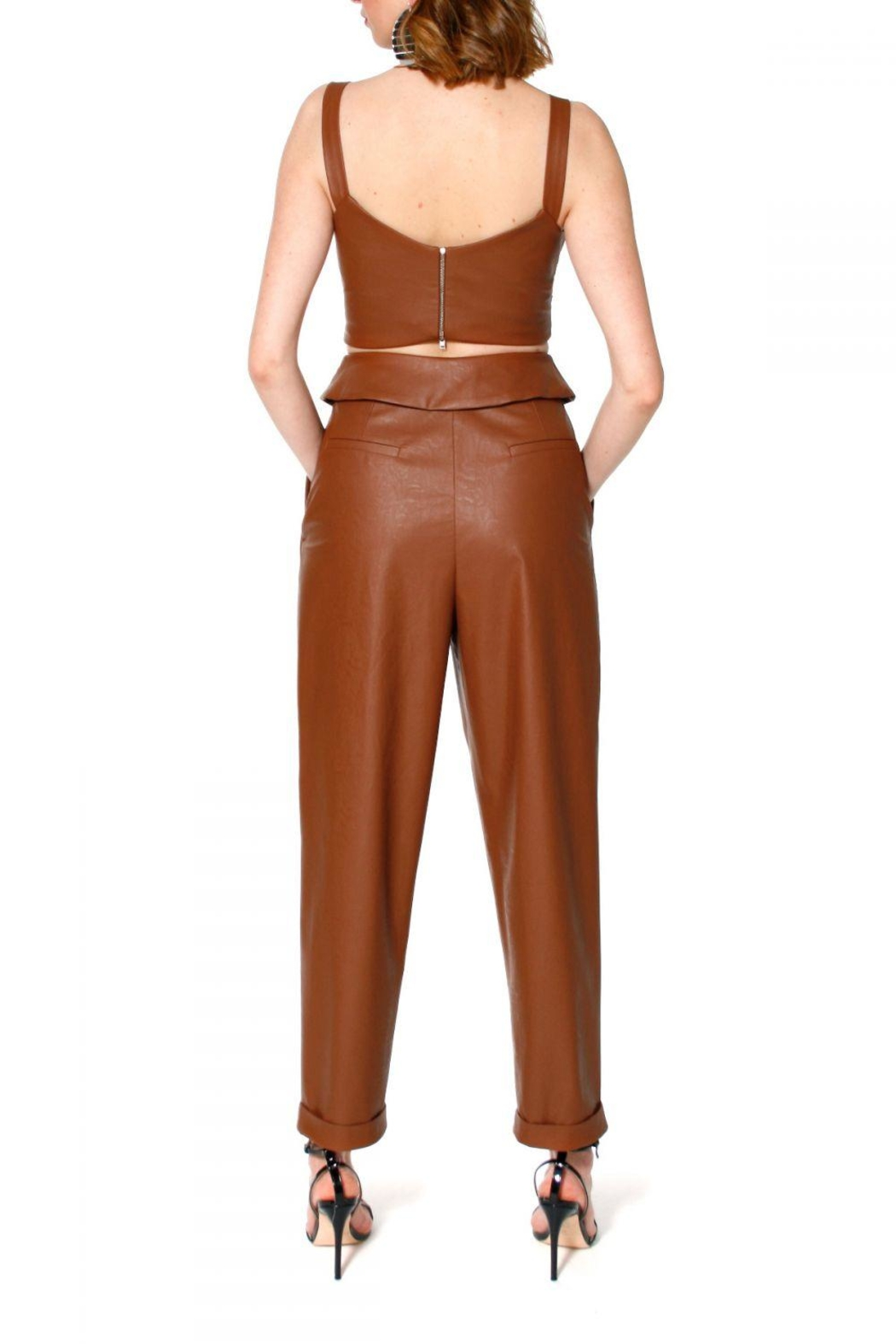 AGGI Pants Xenia Raw Umber - Side Cropped Image