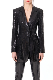 AGGI Sequin Blazer Carla Black Onyx - Product Mini Image