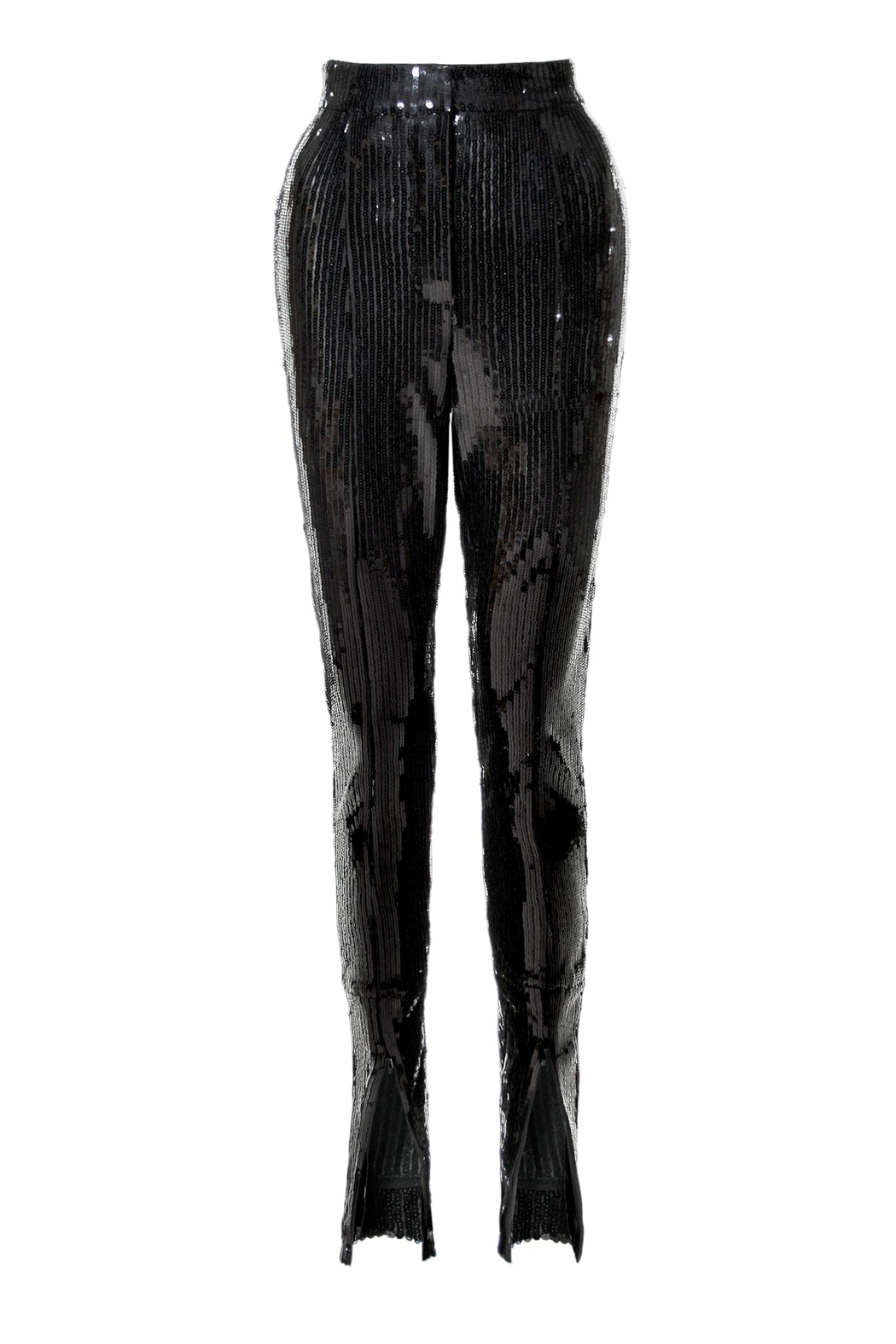 AGGI Sequin Pants Stella Black Onyx - Front Full Image