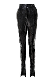 AGGI Sequin Pants Stella Black Onyx - Front full body