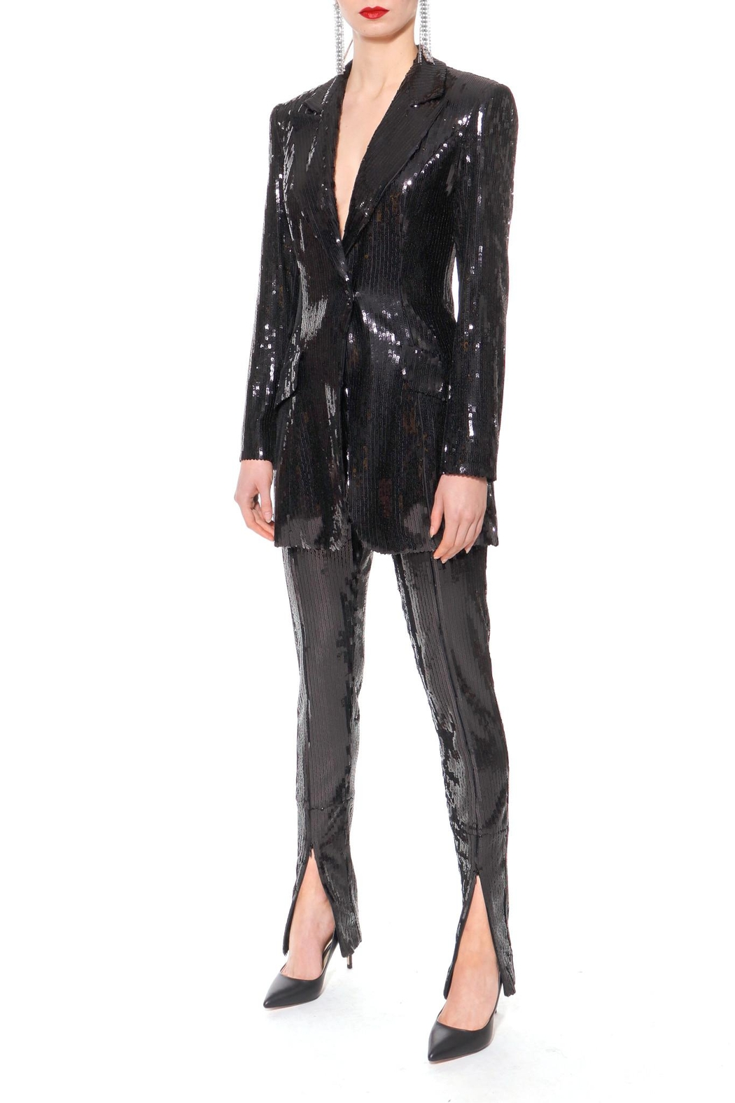 AGGI Sequin Pants Stella Black Onyx - Side Cropped Image