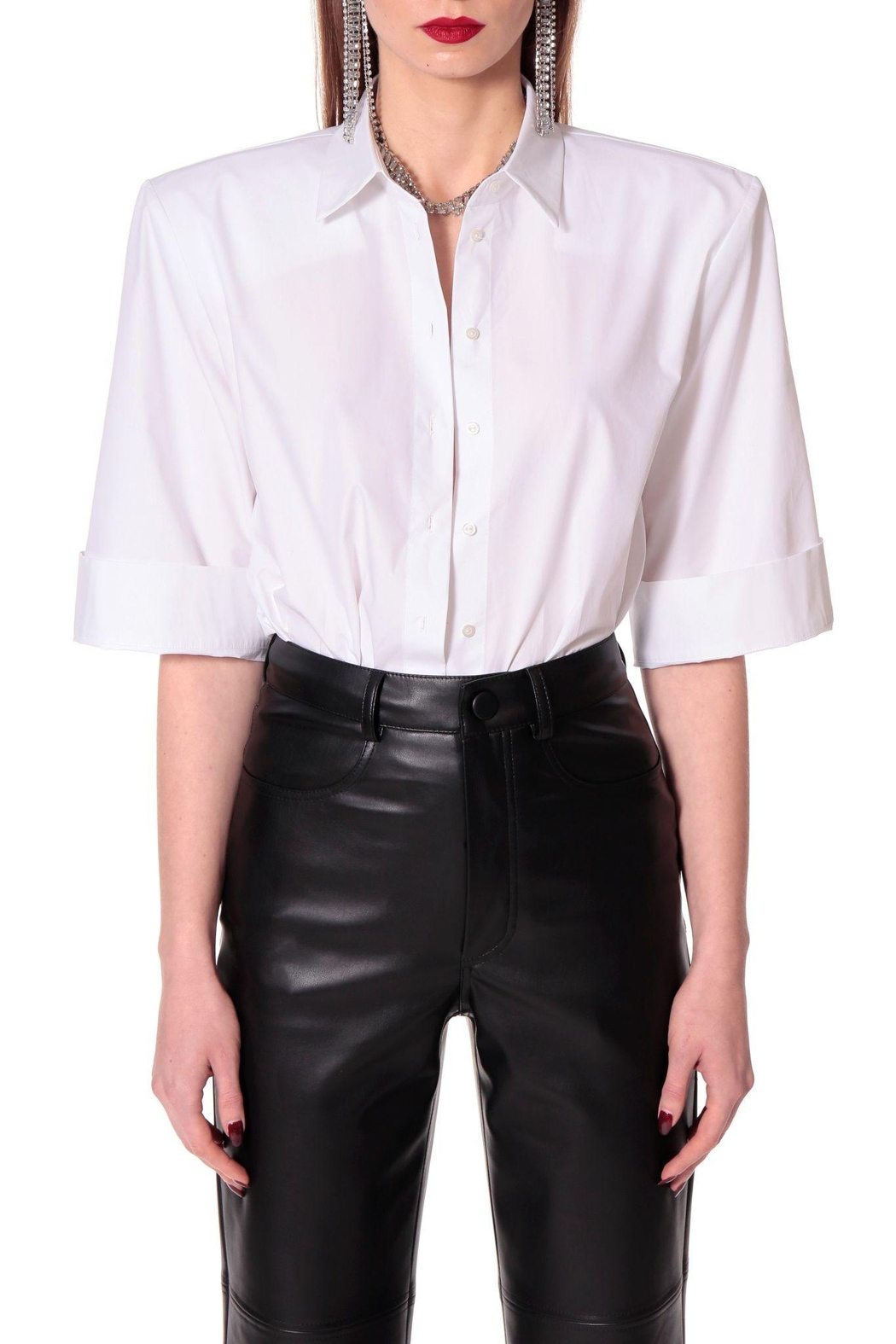 AGGI Shirt Demi Simple White - Side Cropped Image