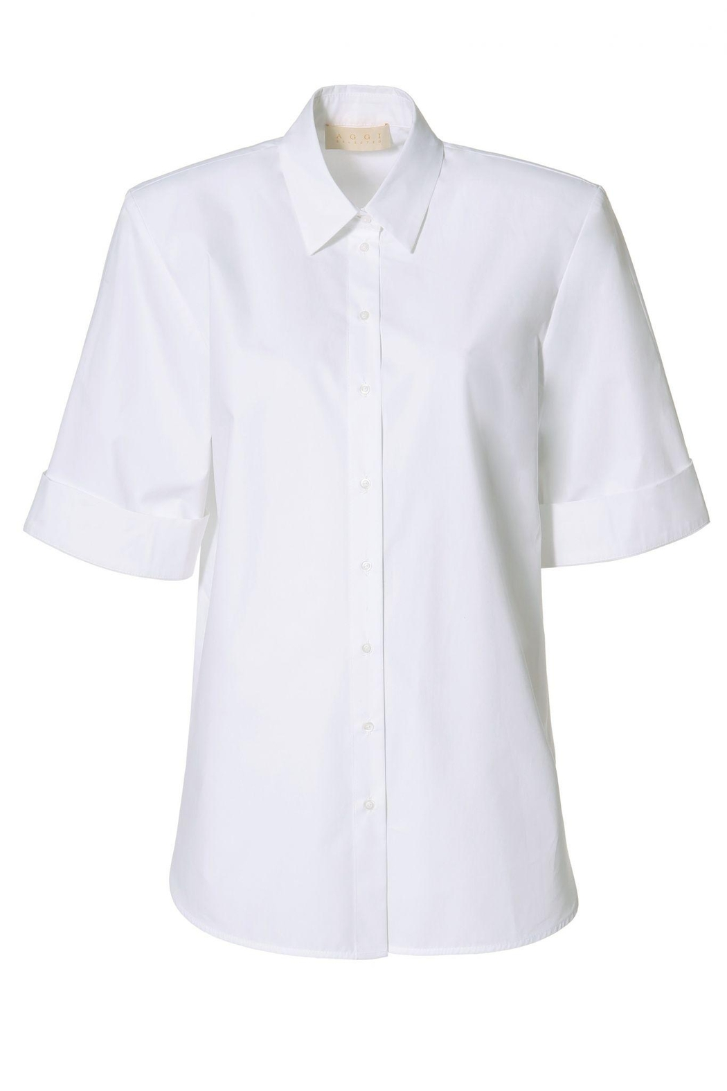 AGGI Shirt Demi Simple White - Front Full Image