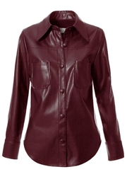 AGGI Shirt Tara Malaga Wine - Front full body