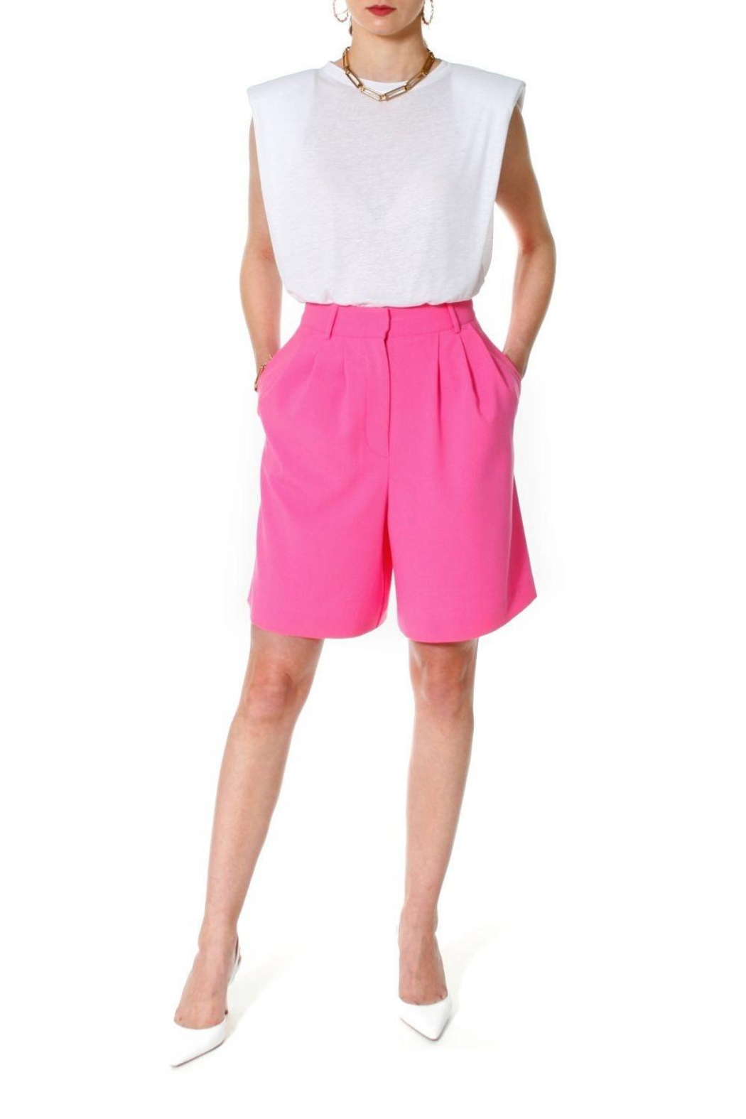 AGGI Shorts Billie Pink Carnation - Front Cropped Image