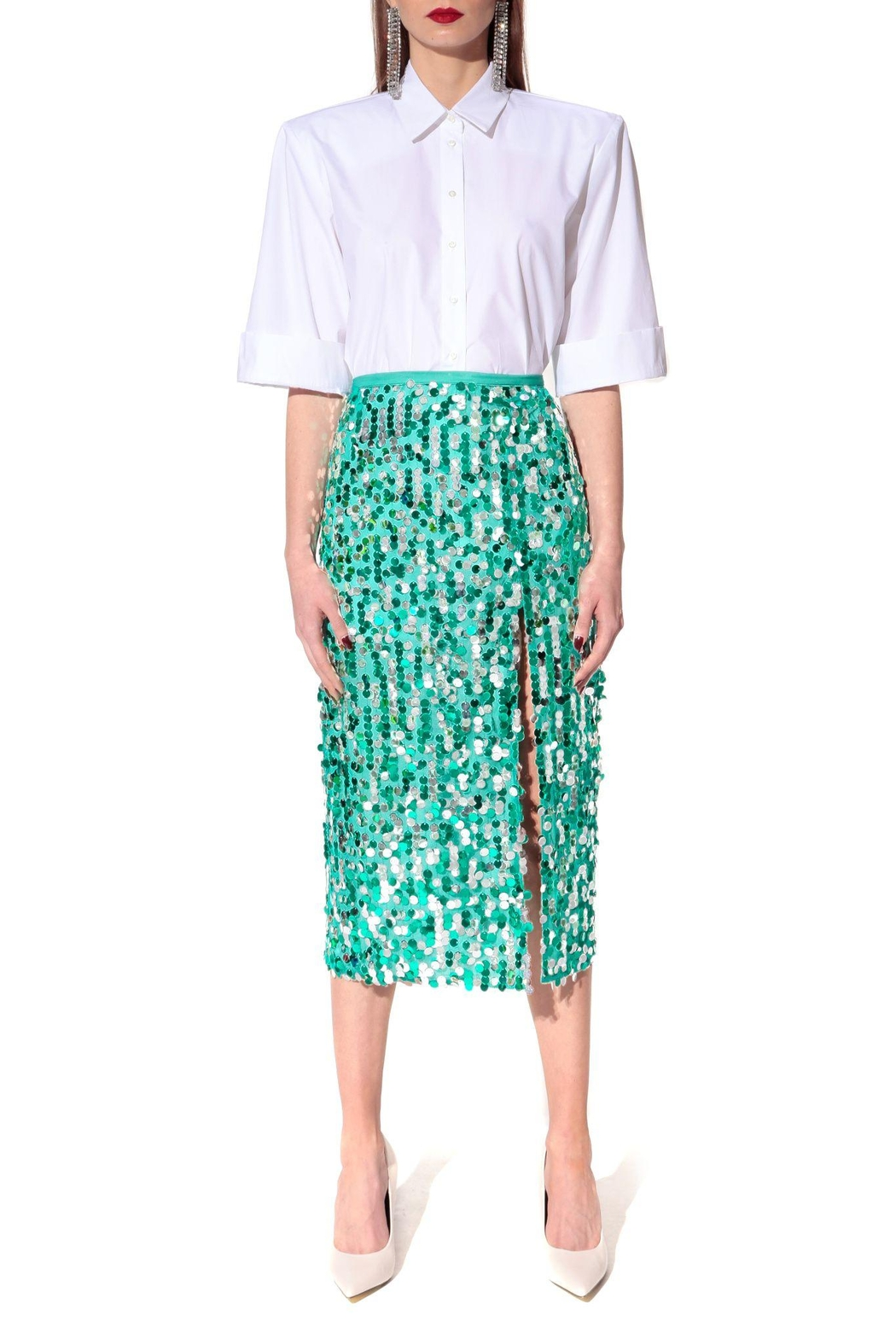 AGGI Skirt Layla Spectra Green - Side Cropped Image