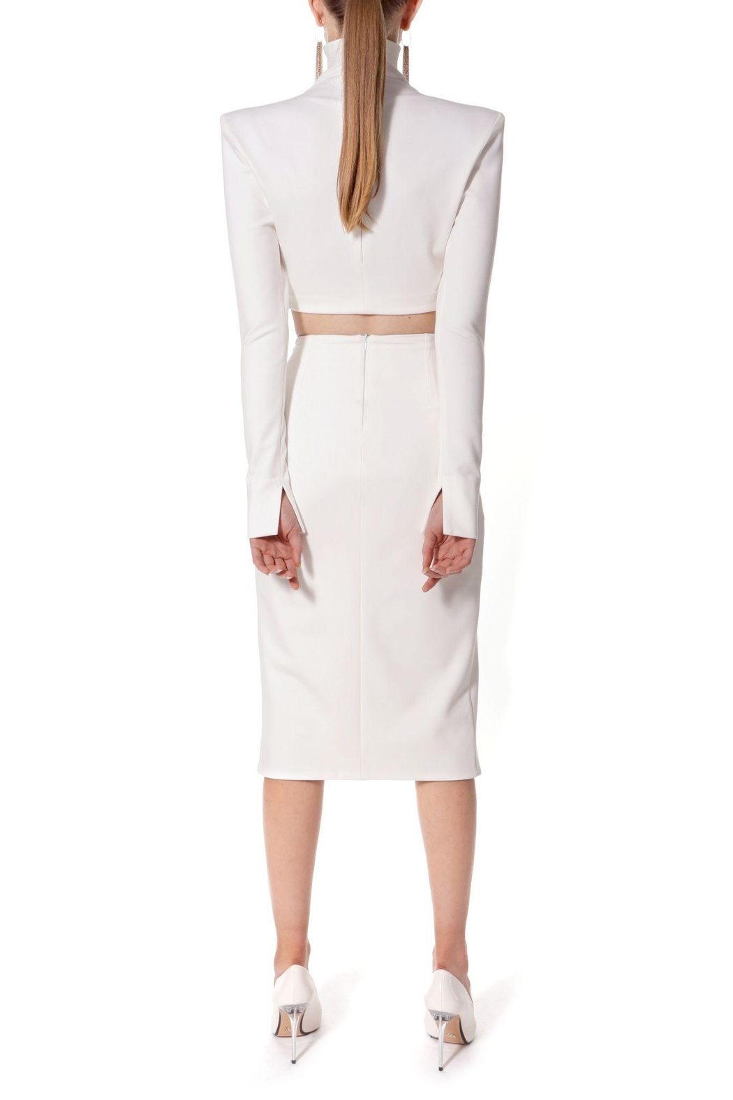 AGGI Skirt Salma Ecru White - Back Cropped Image