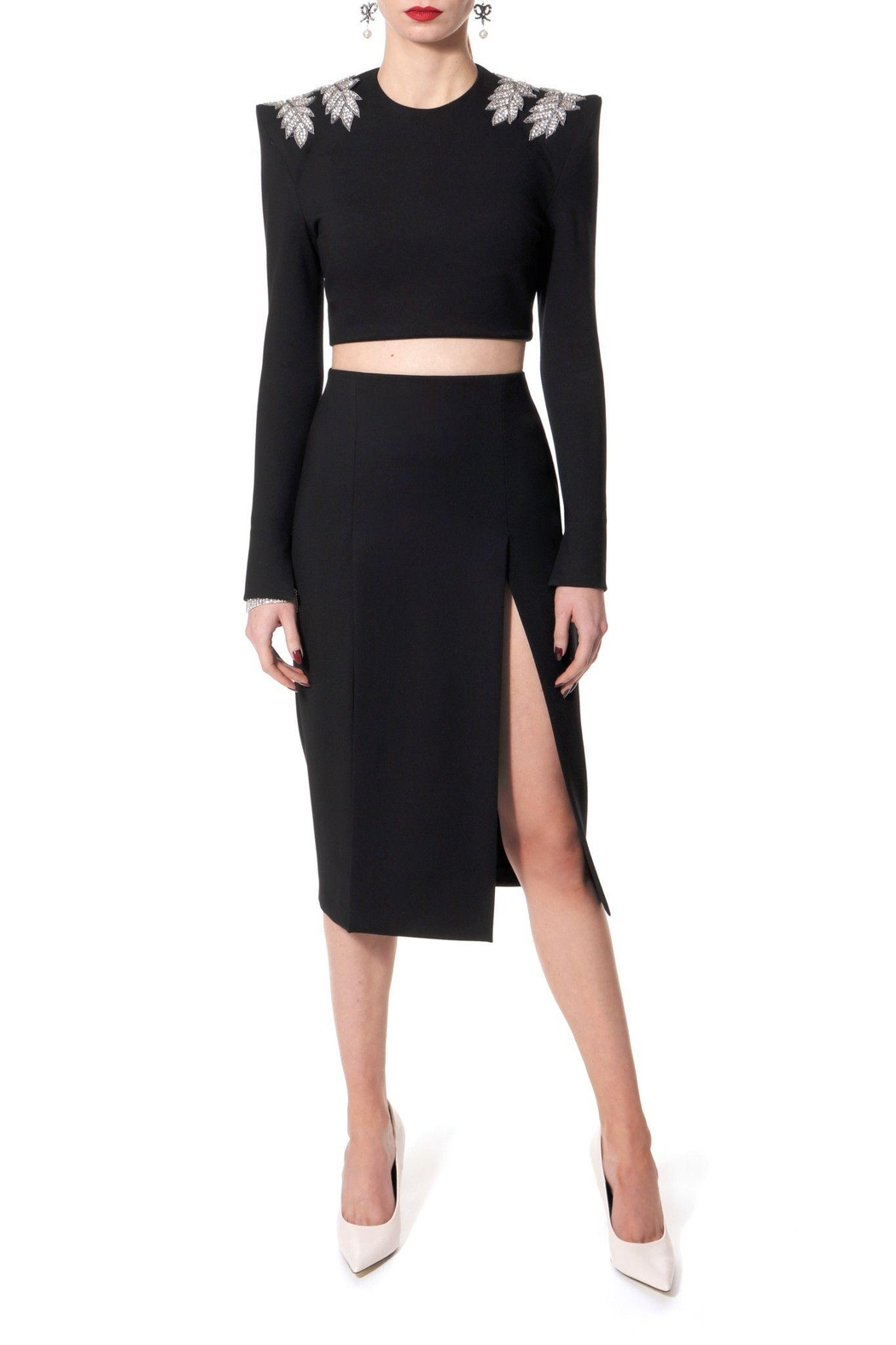 AGGI Skirt Salma Perle Noir - Side Cropped Image