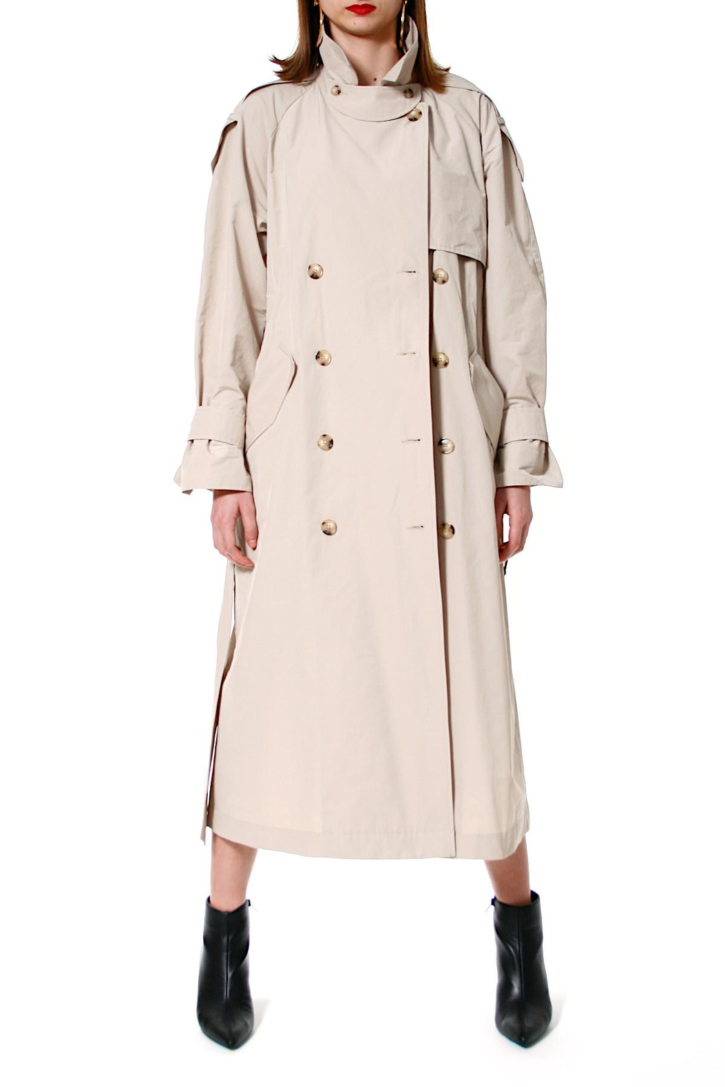 AGGI Trench Coat Céline Beige - Back Cropped Image