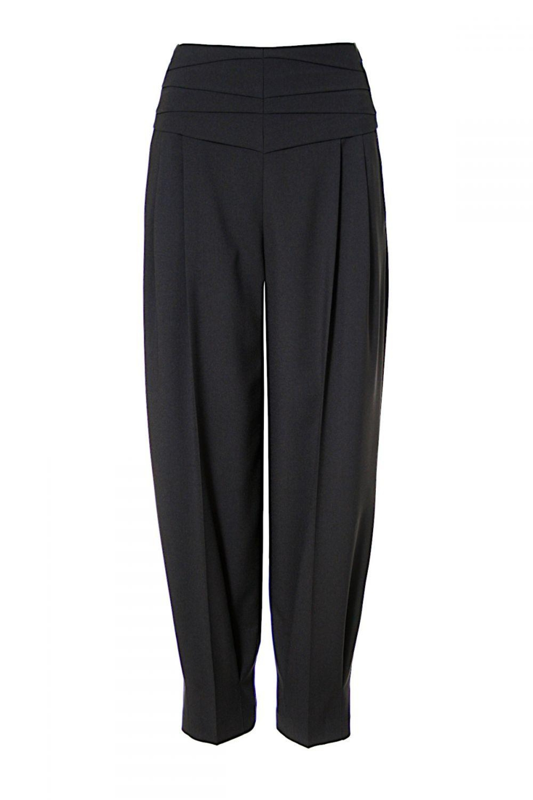 AGGI Trousers Bianca Neutral Black - Front Full Image