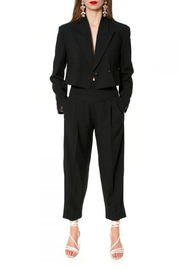 AGGI Trousers Bianca Neutral Black - Front cropped