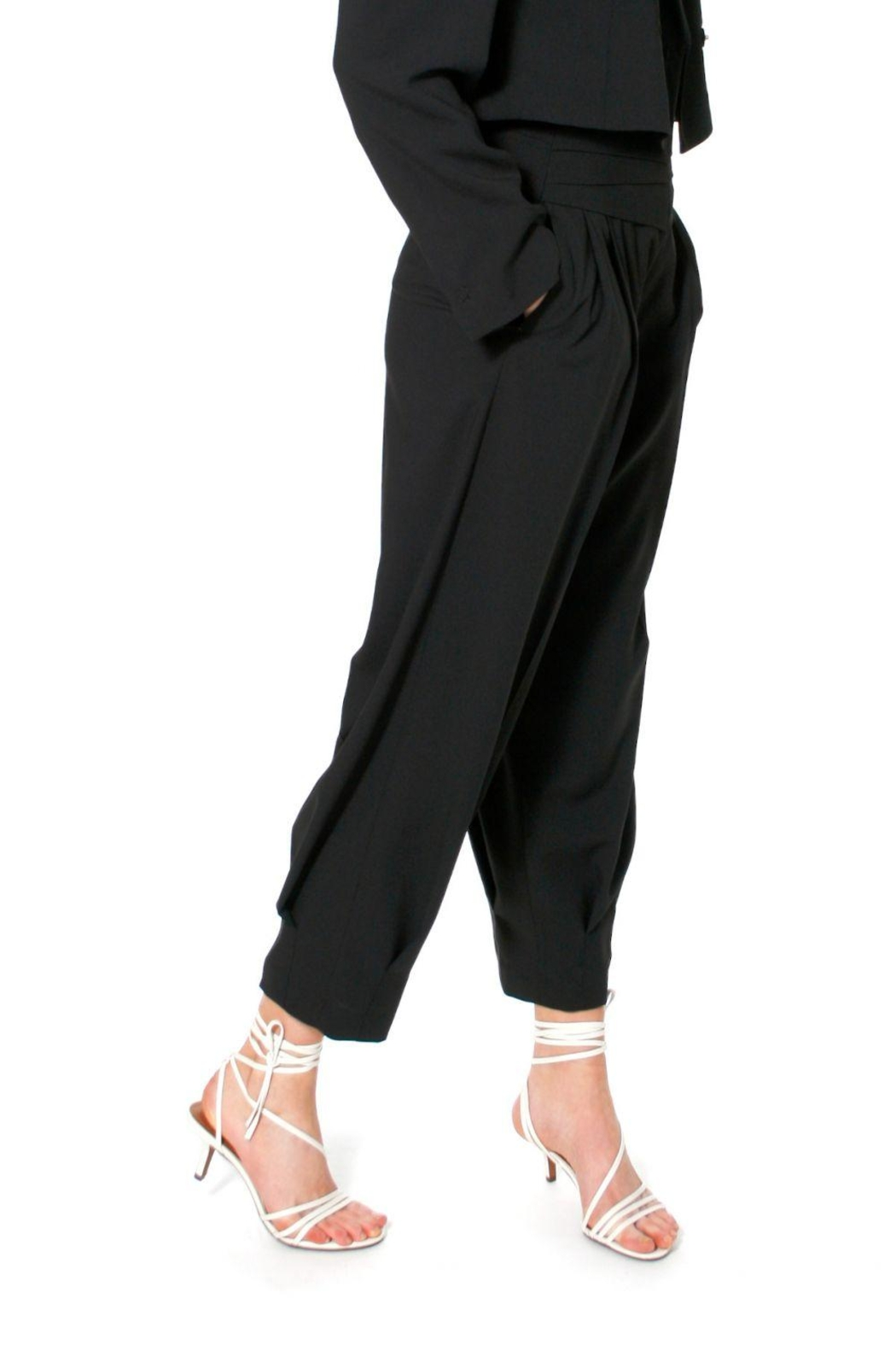 AGGI Trousers Bianca Neutral Black - Side Cropped Image