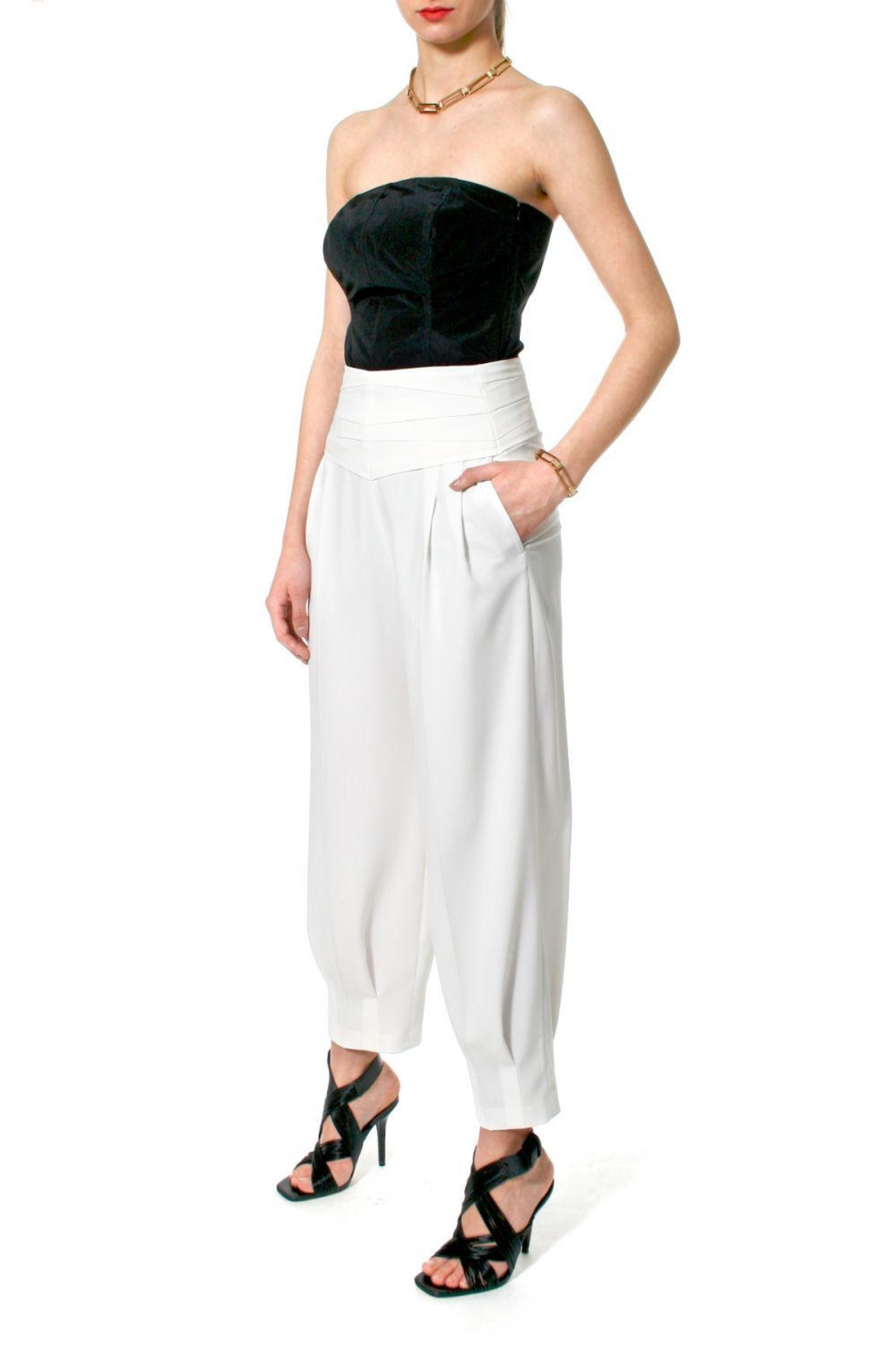 AGGI Trousers Bianca Vanilla Ice - Side Cropped Image