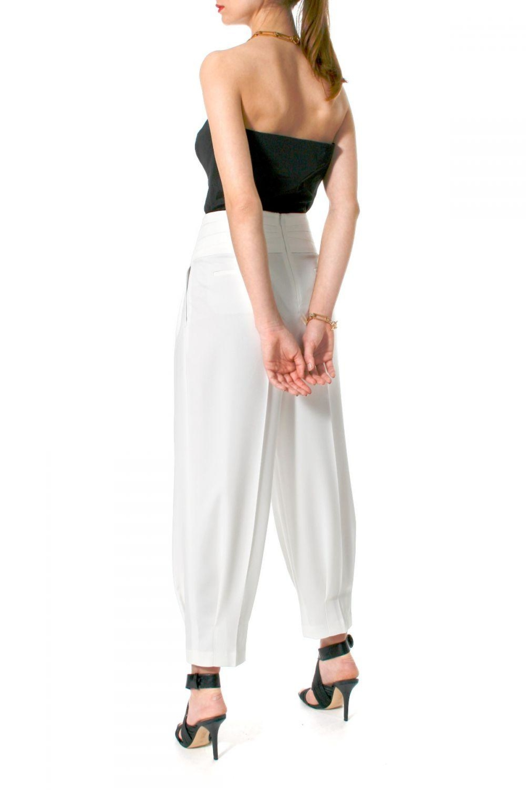 AGGI Trousers Bianca Vanilla Ice - Front Full Image