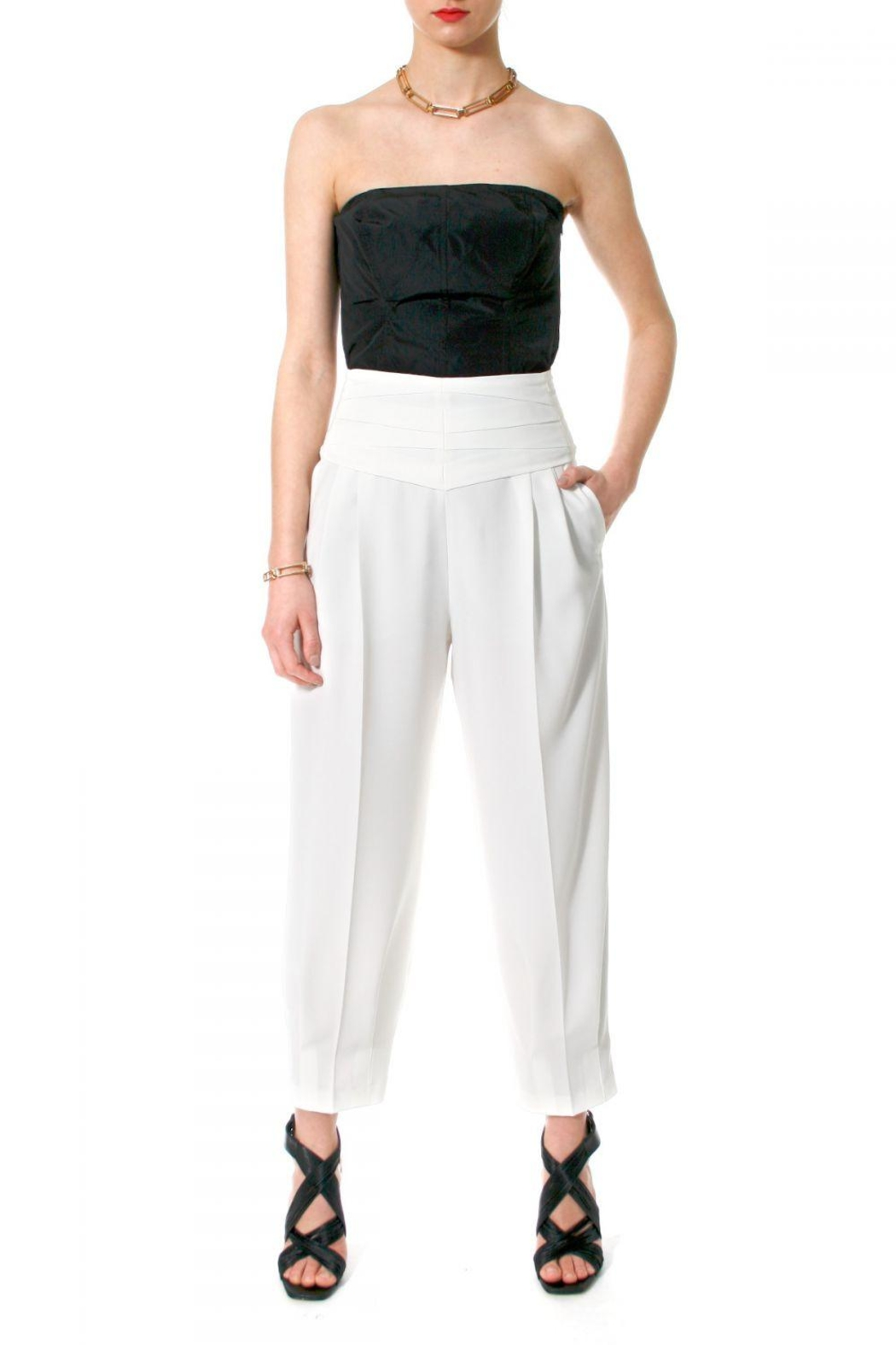 AGGI Trousers Bianca Vanilla Ice - Front Cropped Image