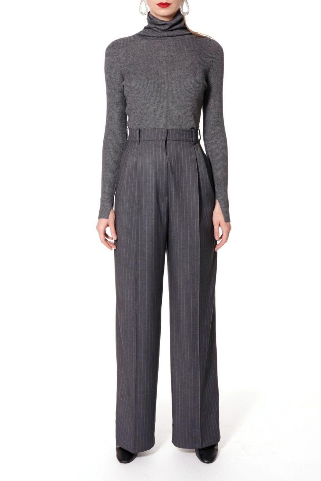AGGI Trousers Gwen Downtown Grey - Front Cropped Image