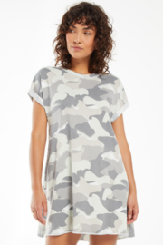 z supply Agnes Painted Brushstrokes Camo Dress - Product Mini Image