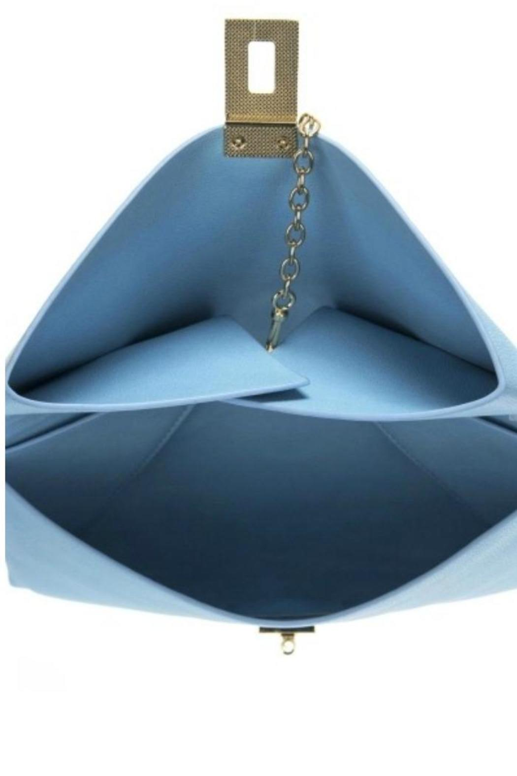 AGP Apparel Blue Folded Clutch - Front Full Image