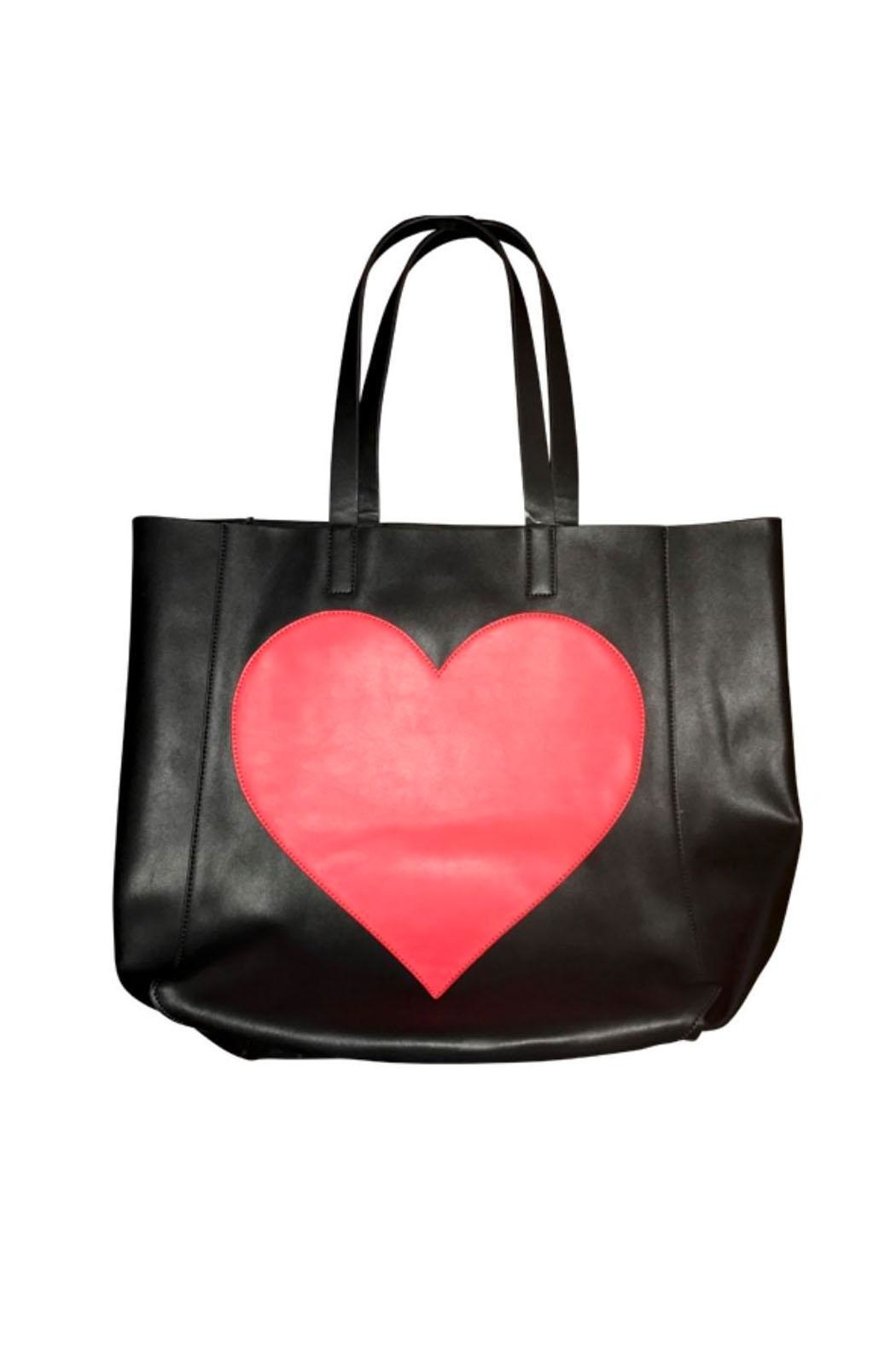 Ah!dorned Leather Heart Tote - Main Image