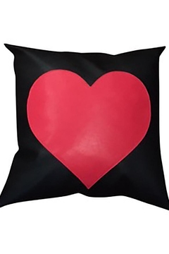 Shoptiques Product: Black Red Heart Pillow