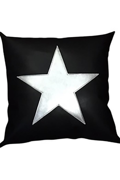 Shoptiques Product: Black White Star Pillow