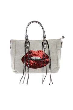 Shoptiques Product: Sequin Lips Tote