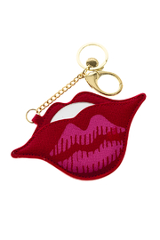 AH!DORNMENTS Red Lips Keychain - Product Mini Image