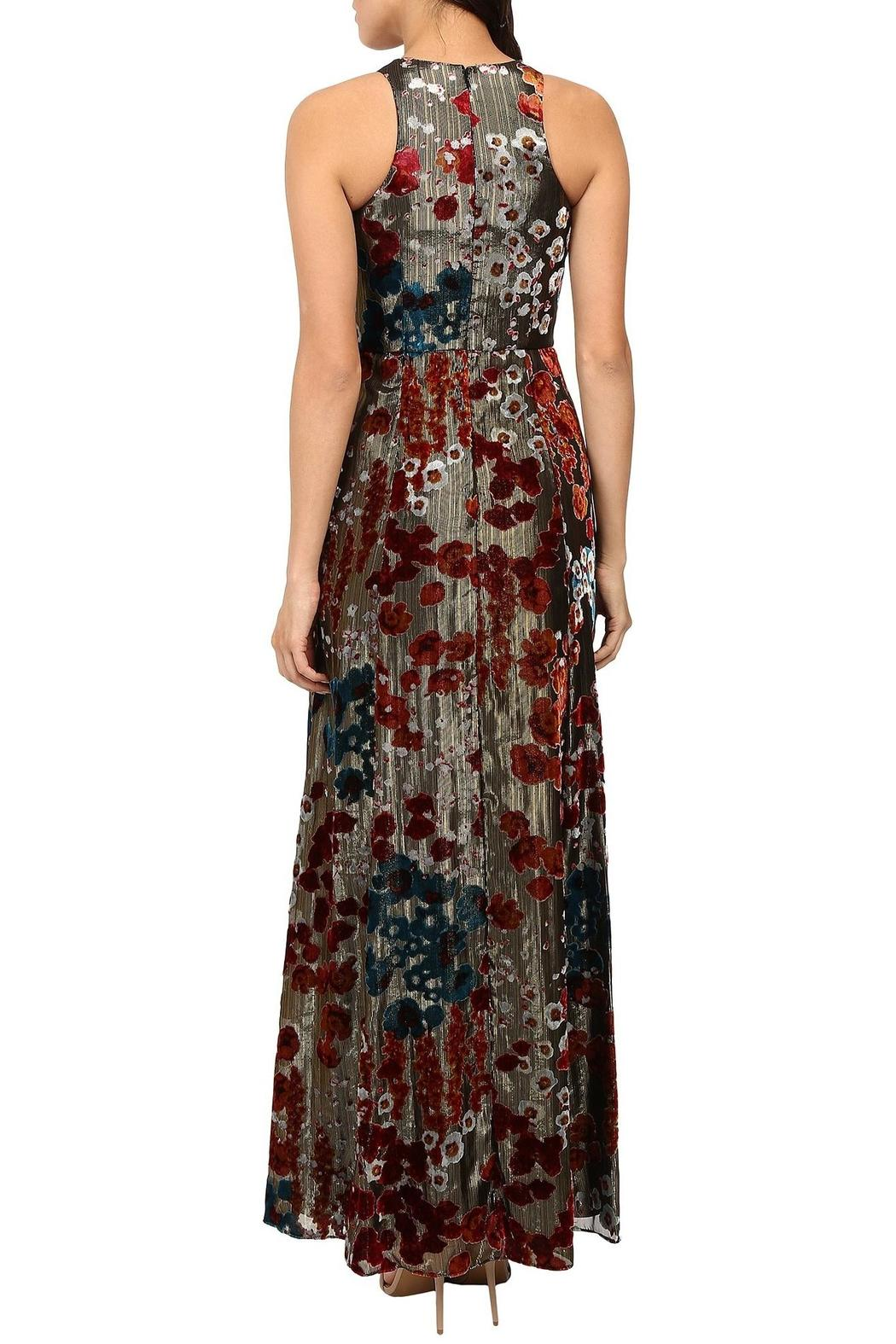 Aidan by Aidan Mattox Sleeveless Floral Gown - Front Full Image