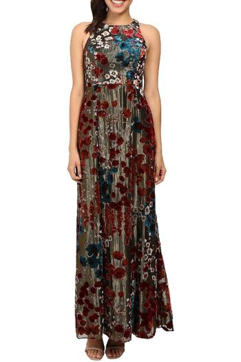Aidan by Aidan Mattox Sleeveless Floral Gown - Main Image