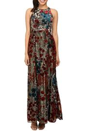Aidan by Aidan Mattox Sleeveless Floral Gown - Front cropped