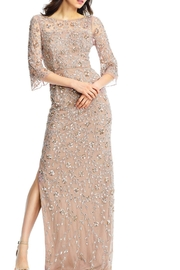 Aidan Mattox 3/4 Sleeve Gown - Product Mini Image