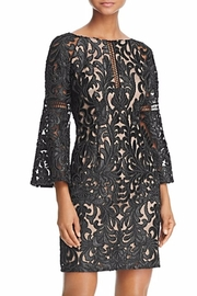 Aidan Mattox Bell Sleeve Lace Dress - Front cropped