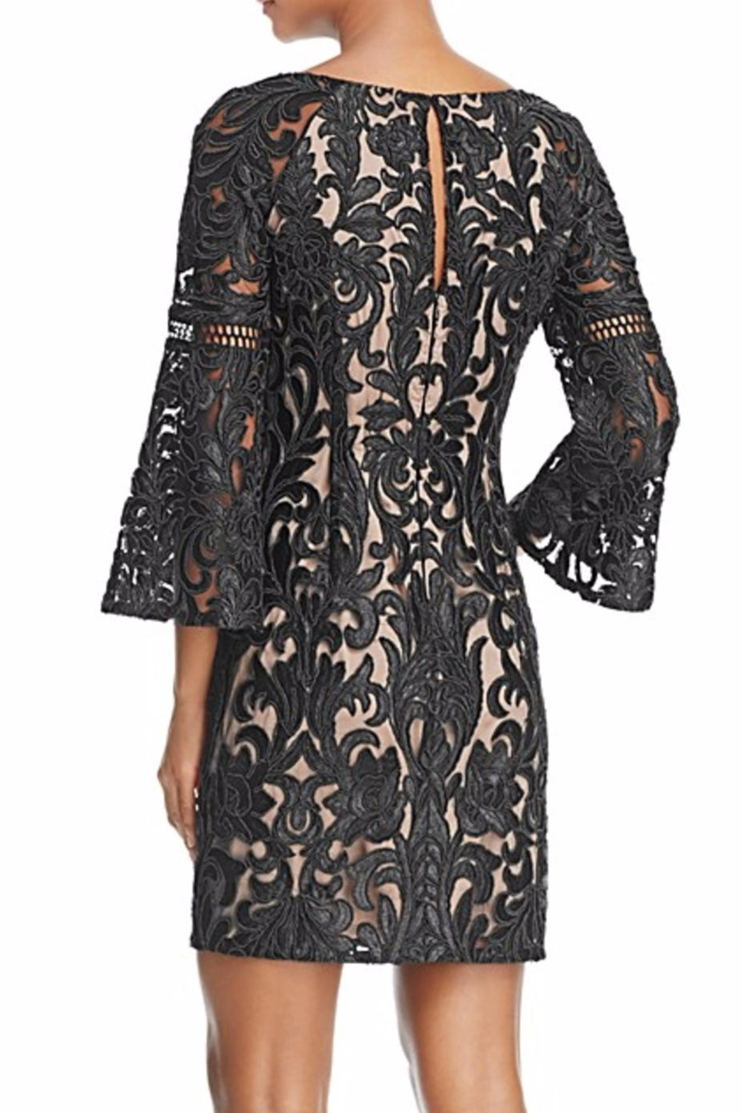 Aidan Mattox Bell Sleeve Lace Dress - Front Full Image