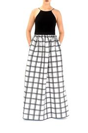 Aidan Mattox Contrast Bodice Gown - Front cropped