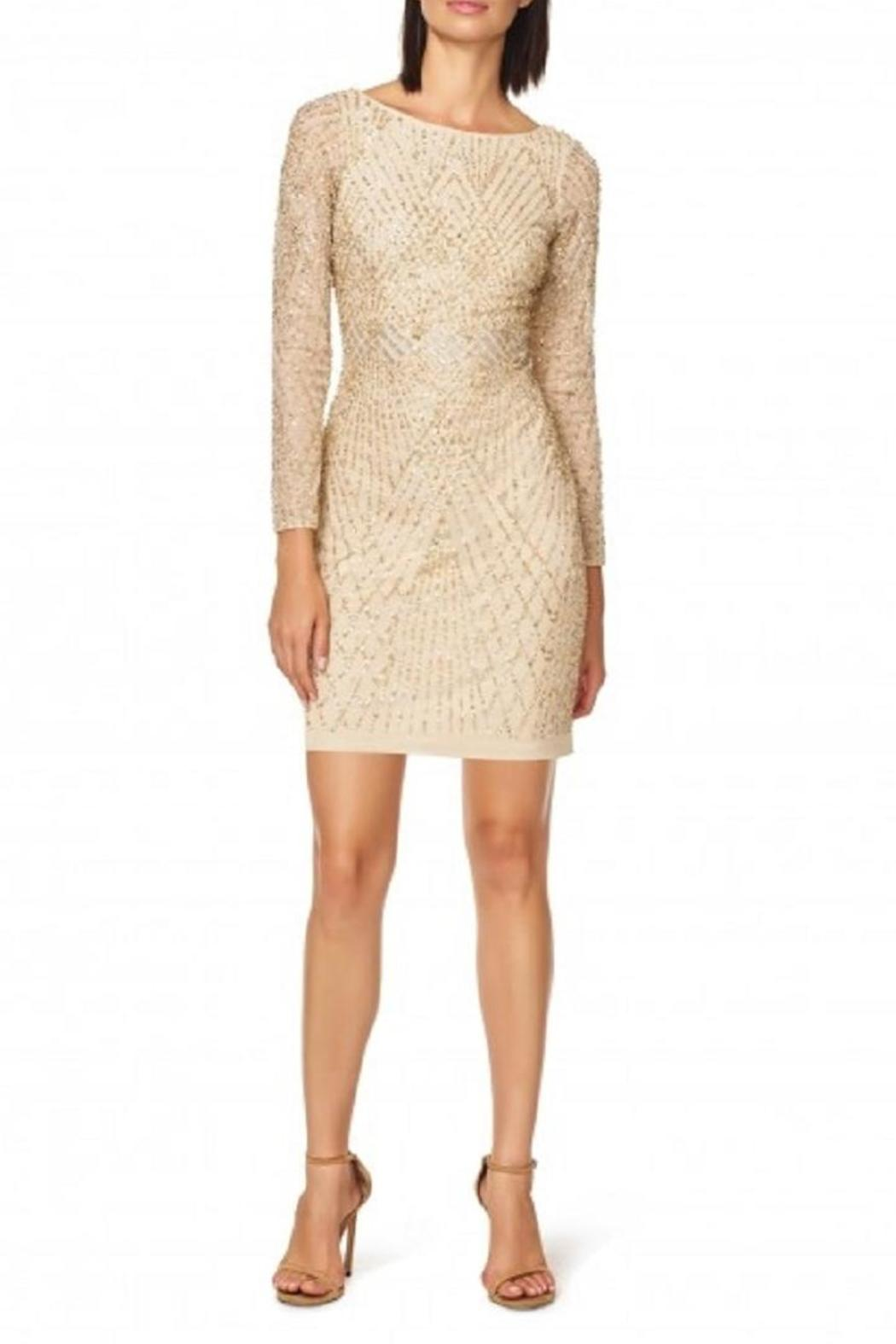 Aidan Mattox Long Sleeve Dress - Main Image
